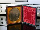 Augustus Ormsbee sixth plate Daguerreotype portrait of unidentified couple