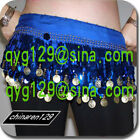 sale! HAND MADE BELLY DANCE HIP SCARF GOLD COINS 02