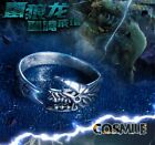 S925 Silver Monster Hunter Zinogre Totem Dragon Finger Ring Cosplay Game
