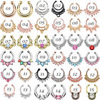 1PC Fake Clip On Nose Hoop Ring Open Ear Septum Body Piercing Jewelry Faux Hoop image