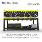 Good Quality Mining Rig Aluminum Case Veddha 8/6 GPU Stackable Open Air Frame FS