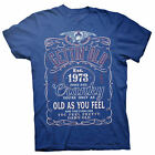 Gettin' Old Pissy And Cranky - Est. 1973 - 45th Birthday Gift T-shirt - 002