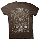 Gettin' Old Pissy And Cranky - Est. 1947 - 71st Birthday Gift T-shirt - 002-