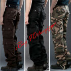 Men Cargo Camo Overall Military Loose Pants Outdoor Multi-Pocket Long Trouser Sz