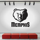 Memphis Grizzlies Logo Wall Decal NBA Sport Sticker Decor Black Vinyl CG462 on eBay