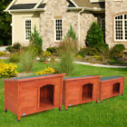Weather Resistant Dog House Pet Shelter Cage Doggie pet door Home Outdoor