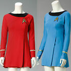 Star Trek Female Duty Costume TOS Blue Uniform TOS Red Dress Cosplay Costume on eBay