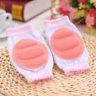 Kids Knee Pads Safety Pink Crawling Leg Protectors White Cotton Legs Warmers