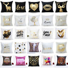 Bronzing Love Deer Pig Plush Sofa Pillow Case Waist Cushion
