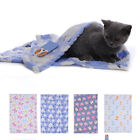 Warm Pet Small Large Paw Print Dog Puppy Cat Fleece Soft Blanket Bed Mat 3 Size