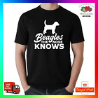 Beagle , The Nose Knows T-Shirt TShirt Tee Funny Pup Doge Pupper Meme Pun Dog