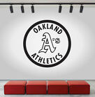 Oakland Athletics Logo Wall Decal MLB Sport Sticker Decor Black Vinyl CG492 on Ebay