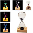 wood + glass + iron powder sand iron flowering magnetic hourglass Y1L6