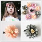 popular princess Peony Flower Hair Clip Girls Accessories clips for girls