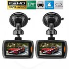 "1/2PACK 1080P HD 2.4"" LCD Dash Cam Car DVR Vehicle Camera Video Recorder USSTOCK"