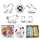 Stainless Steel Puppy Dog Paw Bone Shape Cookie Cake Cutter Baking Mould  Decor