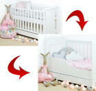 MISZA SLEIGH BABY COT / JUNIOR BED WITH DRAWER / OPTIONAL MATTRESS BARRIER