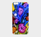 Phone Case Cell cover for Iphone Samsung Galaxy Flower 3 blue art by L.Dumas