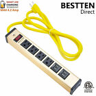 extension cord surge protector - 6 Outlet 2 USB Port Power Strip Surge Protector w/ 6ft Heavy Duty Extension Cord