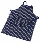 Downview Traditional Butcher's Blue Stripe Apron Double Oven Glove or Gauntlet
