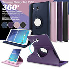 """Samsung Galaxy Tab E 9.6"""" & Tab A 10.1"""" 360° Rotating Stand Leather Case Cover"""