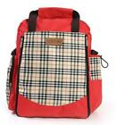 Square Lattice Hit Color Diaper Bag Pregnant Mum Nappy Backpack Large Capacity