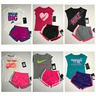 NWT Nike Toddler Girls 2 Pc Tee Shirt & Dri Fit Shorts Set You Pick!!! 2T 3T 4T