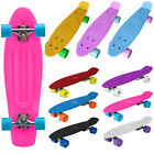 "22"" Mini Cruiser Complete Skateboard Deck Skate PU Wheels Adult Kids Penny Board"