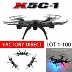 X5C-1 2.4Ghz RC Quadcopter Drone with HD Camera RTF Hateful White LOT 1-100 MAX