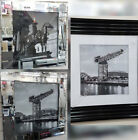 Glasgow scenery with liquid art, crystals & mirror/black step frame pictures