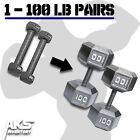 dumbbells 15 lbs - Premium Hex Dumbbell PAIRS Cast Iron Strength Training Muscle Building Weights