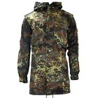 Original GERMAN ARMY FIELD JACKET PARKA military issue hooded Flecktarn combat