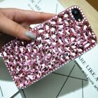 DELUX COOL LUXURY BABY PINK GREEN DIAMANTE CASE 4 VARIOUS MOBILE PHONES 6 7 8 9