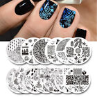 3x BORN PRETTY Nail Art Stamping Plate Round DIY Image Design Stencil Collection