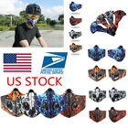 activated carbon face mask - Outdoor Sports Cycling Riding Face Mask Anti-Pollution Activated Carbon Filter