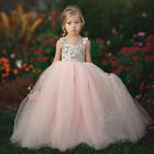 Baby Kids Girls Princess Dress Pageant  Wedding Birthday Party Lace Long Dresses