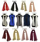 Dupatta Long Net+Golden Hand Diamond Border Women Scarf Wrap Shawl Indian Chunni