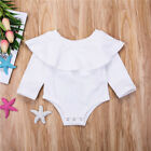 Newborn Baby Girl Floral Ruffled Collar Romper Bodysuit Jumpsuit Outfits Clothes