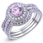 Newshe Cubic Zirconia Engagement Wedding Ring Set For Women 925 Sterling Silver