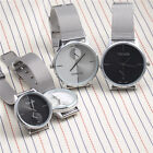 2018 Casual Classic Mens Womens Couple Stainless Steel Mesh Quartz Wrist WatchWristwatches - 31387