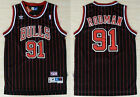 New Men's Chicago Bulls #91 Dennis Rodman Basketball Mesh jersey Black-Red on eBay