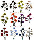 *BARGAIN* REALISTIC ARTIFICIAL POPPY FLOWERS HOME DECORATION SUMMER OUTDOOR