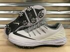 Womens Nike Lunar Control 4 Oregon Ducks Golf Shoes White Silver 7 (838116-108)