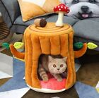 New Cozy Cute Tree Shape Pet Dog Cat House Bed Tent Indoor House Mat Removable