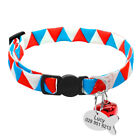 Personalised Pets Cat Breakaway Collar with Tag Engraved Quick Release with Bell