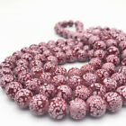 DIY 6/8/10mm Glass Loose Charm Beads Pattern Making Bracelet Necklace Jewelry
