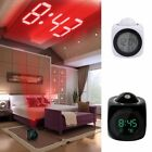 Digital Alarm Clock Multifunction With Voice Talking LED Projection Temperature