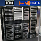 Reina Curved Heated Towel Rail - Chrome Bathroom Radiator Ladder Warmer Heating