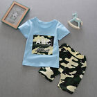 Summer Baby Kids Boys Clothes Set T-Shirt Tee Tops+Shorts Camouflage Outfits US