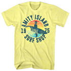 Jaws Amity Island Surf Shop 1975 Men's T Shirt Shark Bite Surfboard Ocean Attack